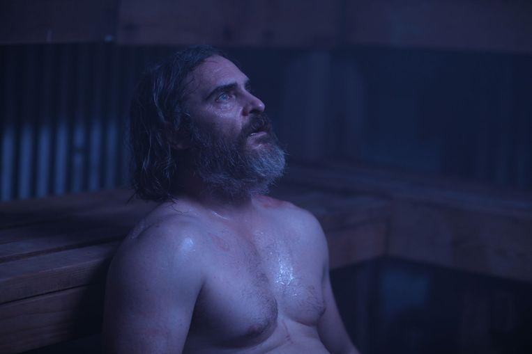Joaquin Phoenix in You Were Never Really Here van Lynne Ramsay. Beeld