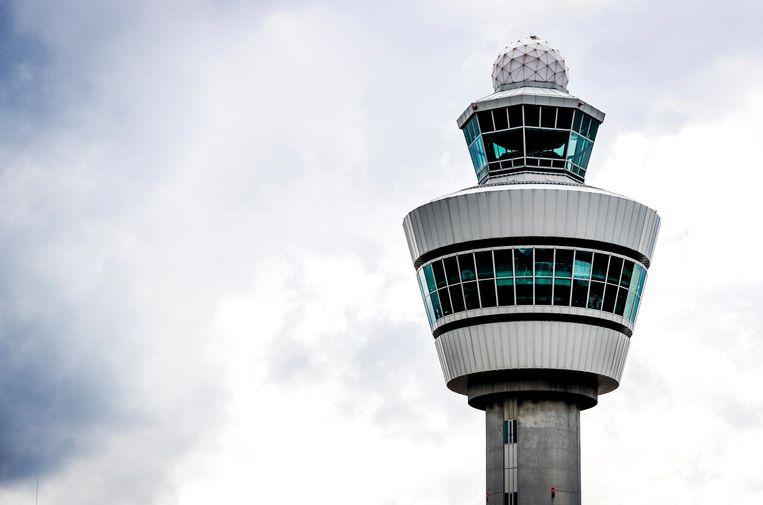 De verkeerstoren van luchthaven Schiphol.  Beeld ANP