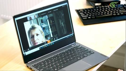 Een videogesprek met koningin Máxima
