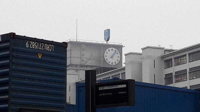 De naam Philips is op Strijp-S nog wel te vinden op het Klokgebouw.