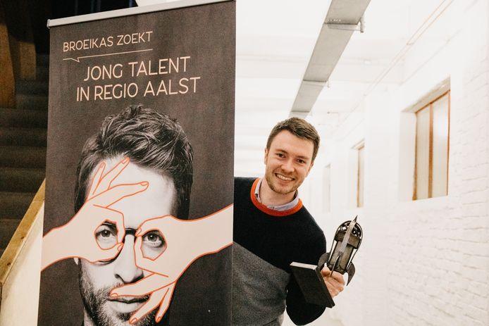 Lukas Van Orshoven met zijn onderneming Crowdselling kreeg de prijs van 'De Prille Klimmer'.