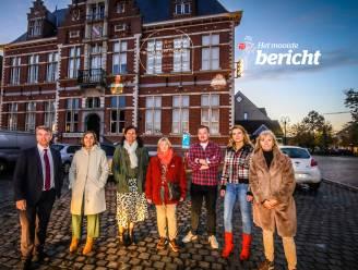 """Oostkamp herdenkt dierbare overledenen met pakkende boodschappen op gevel van gemeentehuis: """"We brengen extra warmte onder de inwoners"""""""
