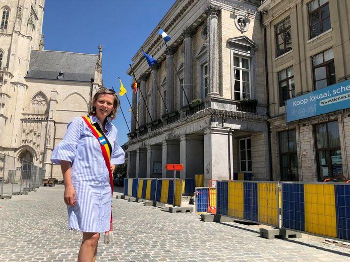 Katrien Partyka (CD&V), Burgemeester van Tienen, beschouwt de cijfers als een motivator voor het stadsbestuur om nog hun best te doen.