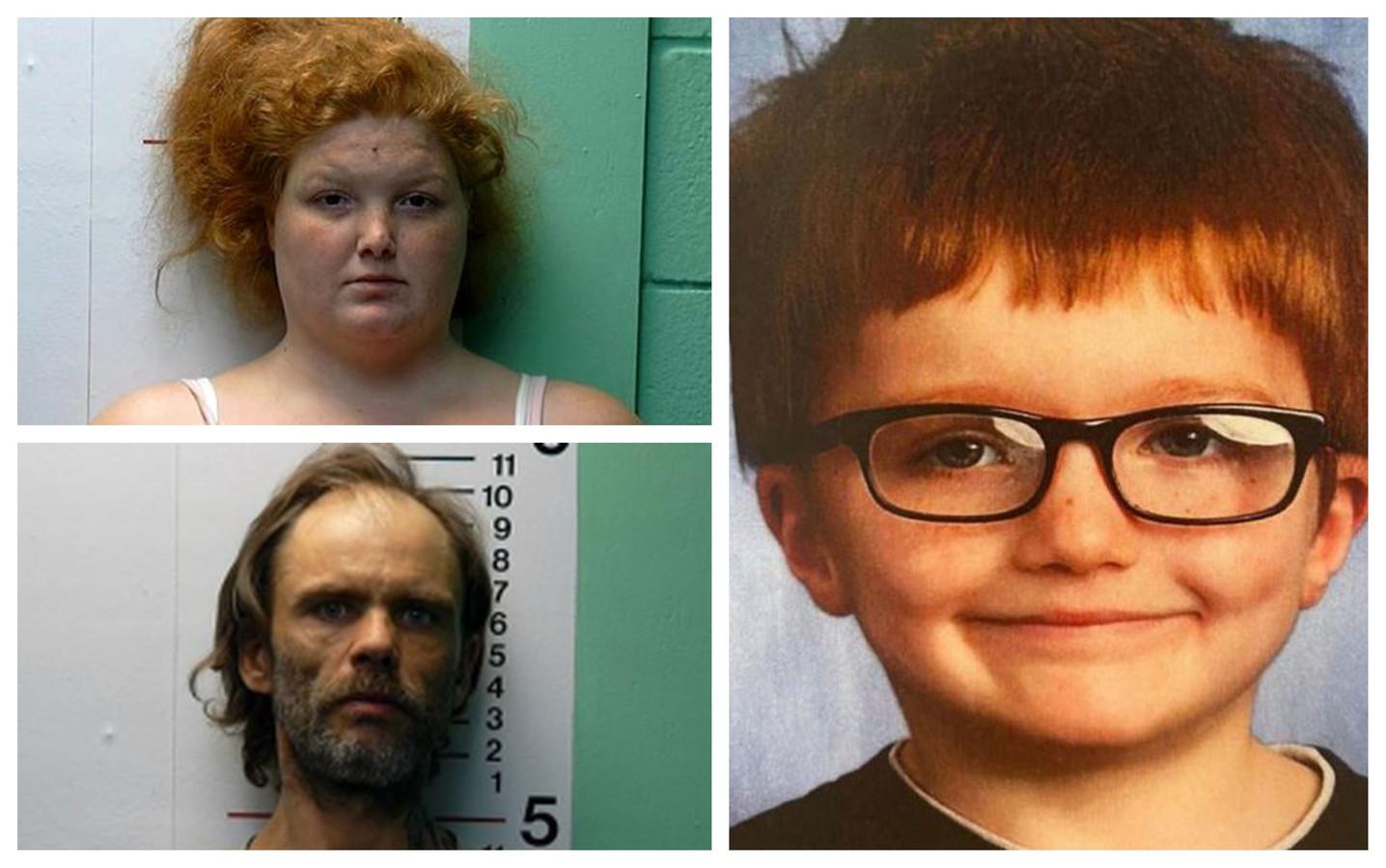De overleden James Hutchinson (6). Zijn moeder Brittany Gosney (29) is aangeklaagd voor moord. Ook haar vriend James Hamilton (42) zit vast.