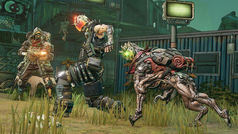 Dankzij de stripverhaalachtige stijl konden de makers van 'Borderlands 3' naar eigen zeggen hun game wat schreeuweriger maken. Beeld 2K Games