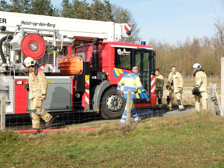 Een bijkomend obstakel voor de brandweer: het huis staat in een doodlopend straatje.