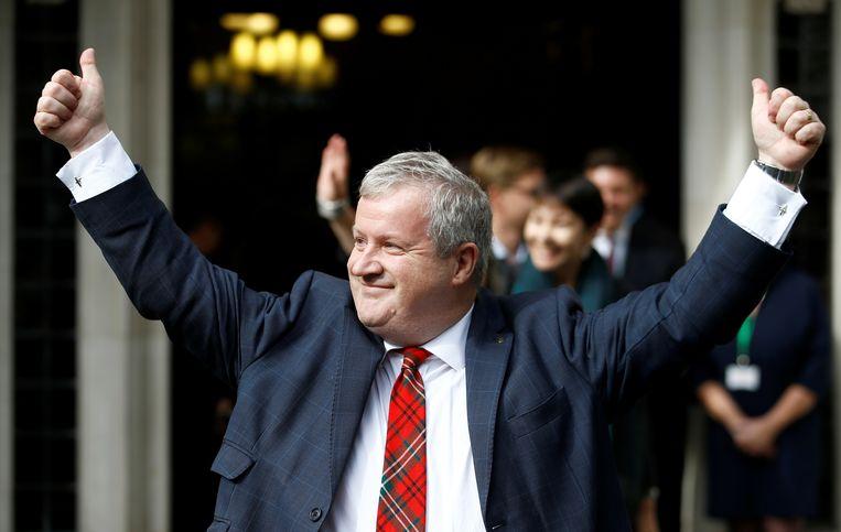 Ian Blackford, leider van de Schotse nationalistische partij SNP, na het horen van het verdict van het hooggerechtshof.