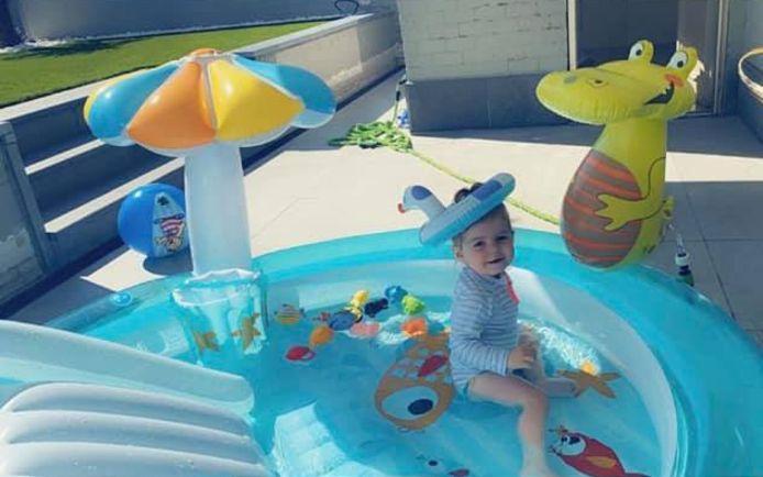 Het zwembadje van Aldi.