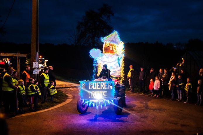 De kerstrun van de Landelijke Gilde in Zoersel zorgde voor een prachtig spektakel.