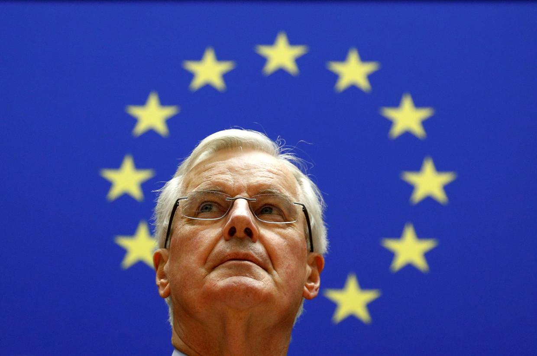 Fransman Michel Barnier onderhandelt voor de Europese Commissie, namens de lidstaten.  Beeld REUTERS