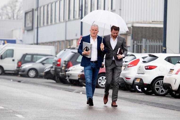 Peter R. de Vries samen met zijn zoon Royce in april van dit jaar. Beeld ANP