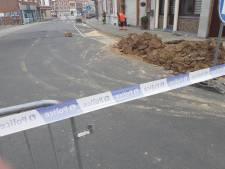 Une partie de la chaussée s'est affaissée avenue Edmond Leburton à Waremme