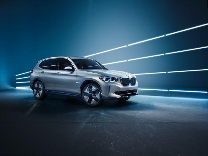 Het studiemodel van de komende, elektrische BMW iX3