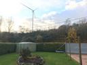 De windmolen vlakbij het huis van Mario.