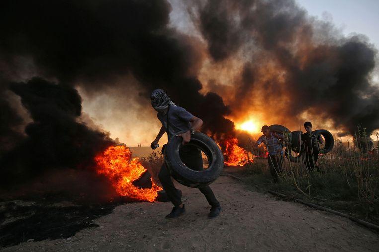 Demonstratie in de Gazastrook