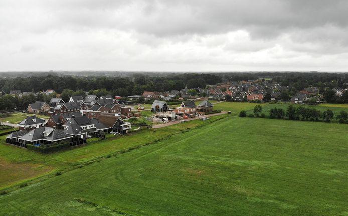 Nieuwbouwwijk De Marke III in vogelperspectief.
