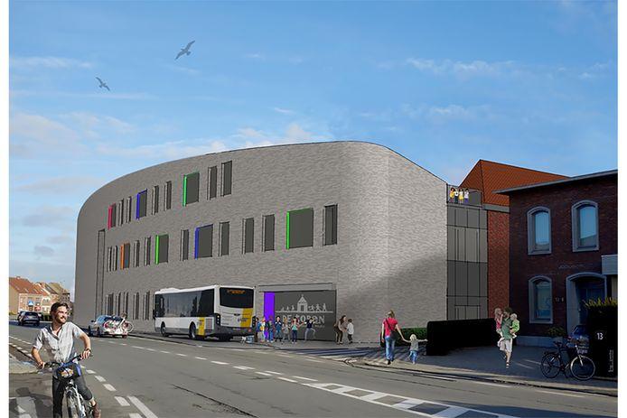 Een simulatie van de nieuwbouw langs de Schoolstraat.