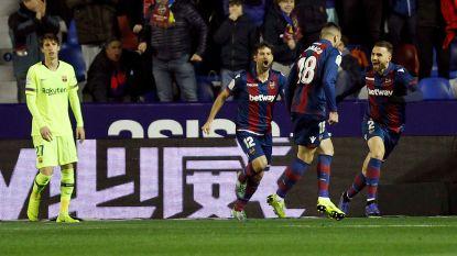 Barcelona heeft werk voor de boeg in Copa del Rey: Levante legt Messi-loos Barça in heenwedstrijd achtste finale over de knie