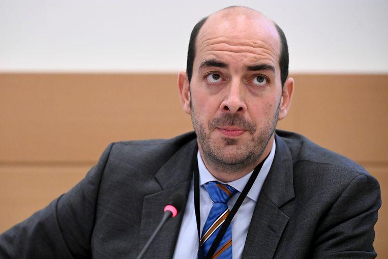 Mathieu Michel (MR), de nieuwe staatssecretaris voor Digitalisering, Administratieve Vereenvoudiging, Privacy en Regie der gebouwen. Beeld BELGA