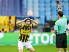 Buitink na rode kaart tegen Feyenoord: twee duels schorsing aanvaller Vitesse
