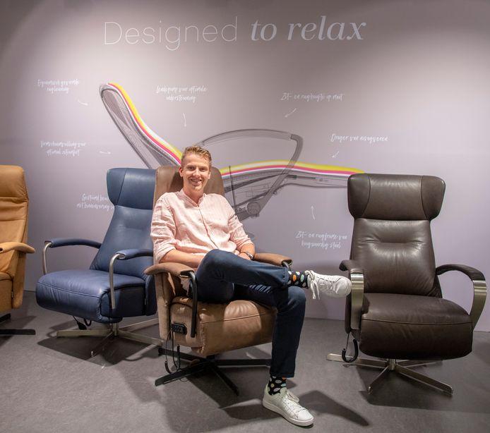 Horecaman Tjardo Dijkstra verkoopt nu relaxstoelen bij Prominent in Nunspeet, waar hij voorlopig wil blijven
