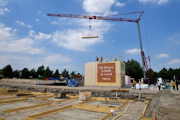 De bouw van fase 1 van het project 'Hof van Duurzaamheid' is al enkele maanden geleden van start gegaan.