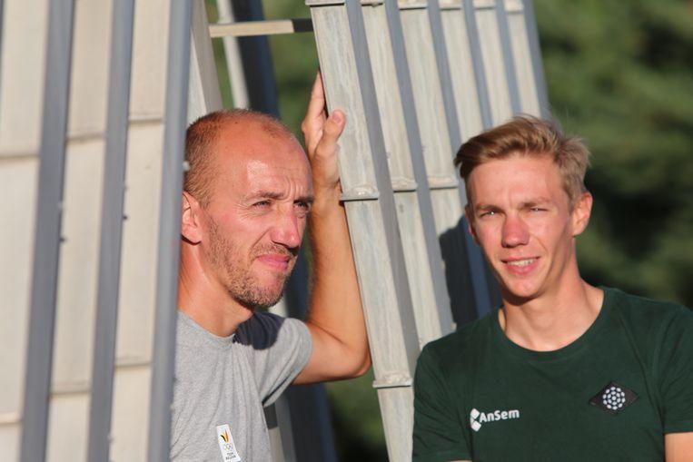 Bart Swings en coach Jelle Spruyt Beeld Hans Vandeweghe