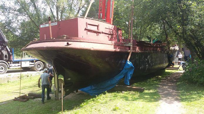 Het schip is geland in Arnhem.