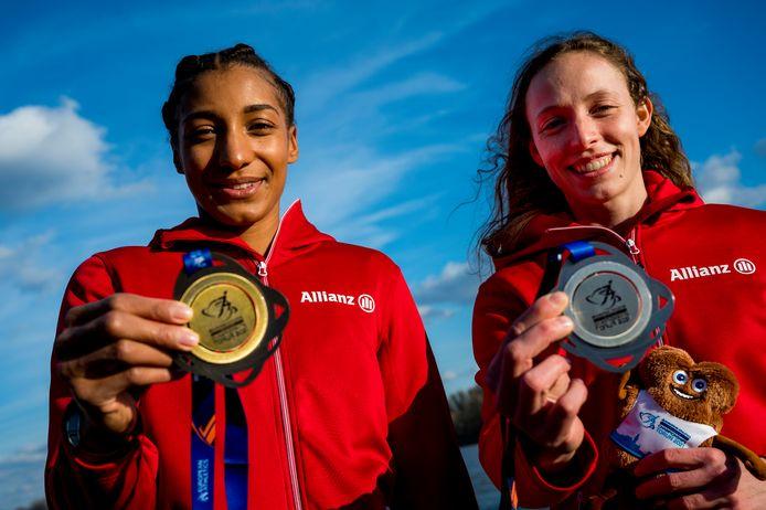 Noor Vidts won het zilver in de vijfkamp, Nafi Thiam het goud.