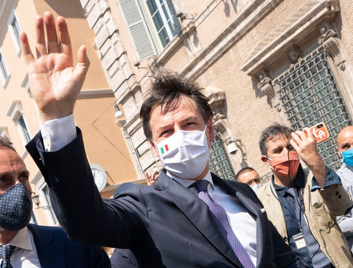 De Italiaanse premier Conte.