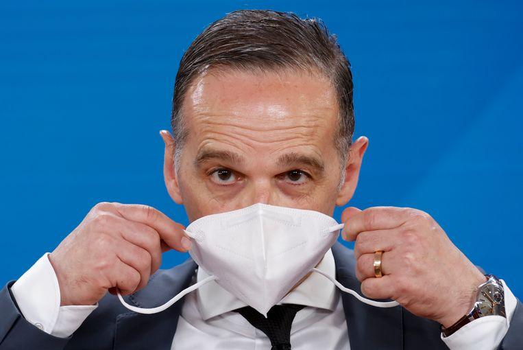'Het veto moet weg', zei de Duitse minister van buitenlandse zaken Heiko Maas maandag onomwonden.  Beeld Axel Schmidt/REUTERS-Pool/dpa
