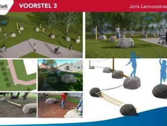 Kinderen krijgen avontuurlijk speelparcours in Joris Lannoostraat