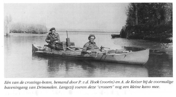 De liniecrossers Adriaan de Keizer en Piet van den Hoek bij de haven van Drimmelen. archief bn destem