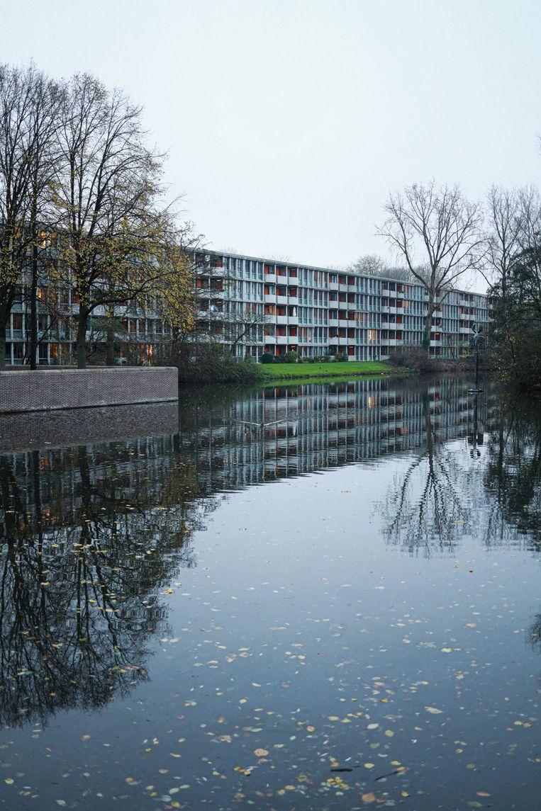 Op 5 december wandelden we rond wooncomplex Het Breed van architect Frans van Gool, gerealiseerd tussen 1962-1968 in Noord. Winnaar van het jaarabonnement op Ons Amsterdam is Michiel Geldof. Beeld Anouk Hulsebosch