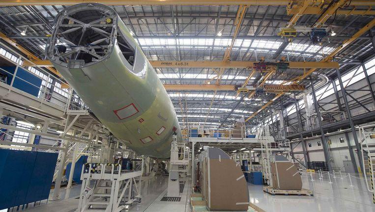 Een Airbus A321 wordt in elkaar gezet. Beeld reuters