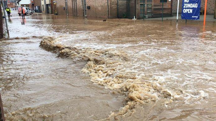 De wateroverlast in Tienen.