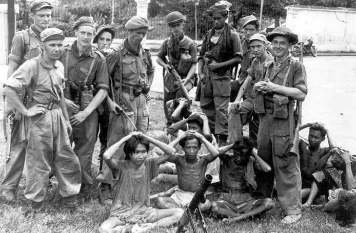 Nederlandse soldaten in 1948 op Java. Volgens de Federatie Indische Nederlanders is er weinig aandacht voor geweld door de tegenstanders, de onafhankelijkheidsstrijders.