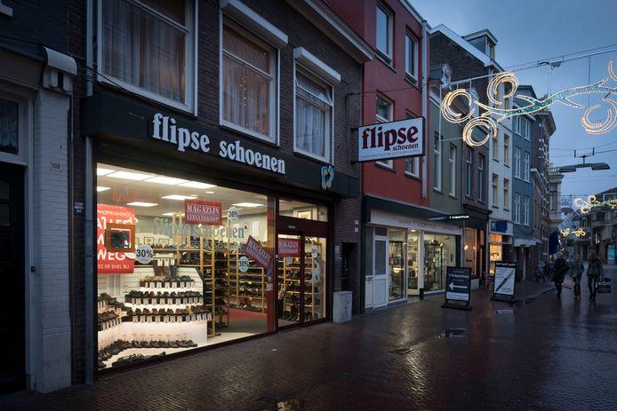 Het winkelpand van Flipse aan de Beekstraat.