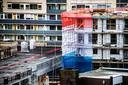 Een beeld dat de komende jaren vaak te zien zal zijn: nieuwbouw in hartje binnenstad.