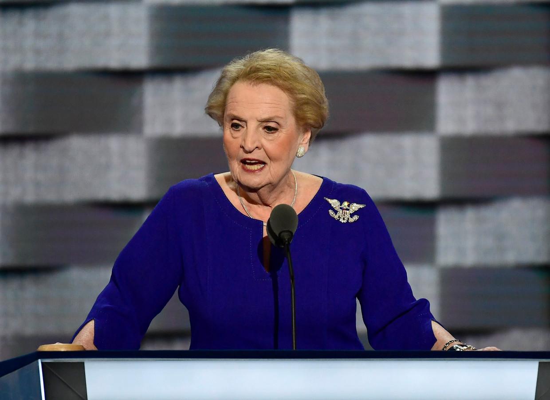 Madeleine Albright: 'Trump begrijpt niet hoe belangrijk het is een open dialoog te voeren.' Beeld Photo News