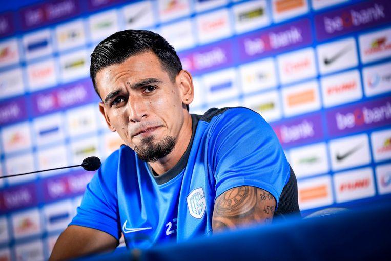 Gisteren kon Muñoz eindelijk voorgesteld worden. Beeld Photo News