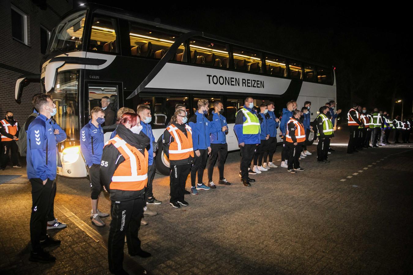 De spelersbus van De Graafschap.