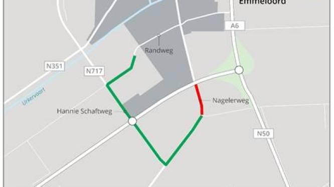 Verkeersomleiding vanwege reparatie nieuw fietspad bij Emmeloord