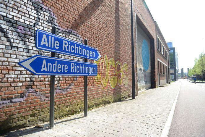 Experimentele kunstroute in Leuven. Een werk van Peter Van Eyck.