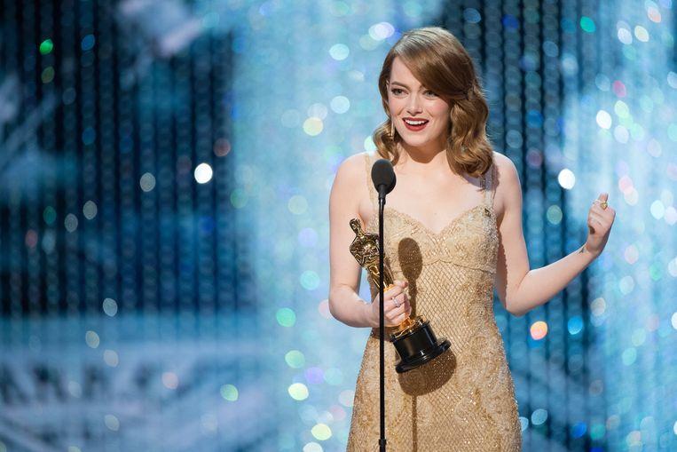 Emma Stone won de Oscar voor Beste Actrice voor haar rol in La La Land. Beeld EPA