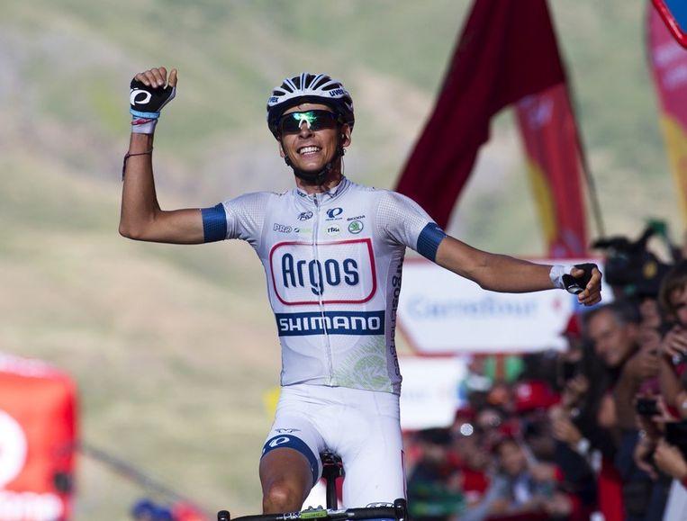 Warren Barguil wint de etappe. Beeld afp