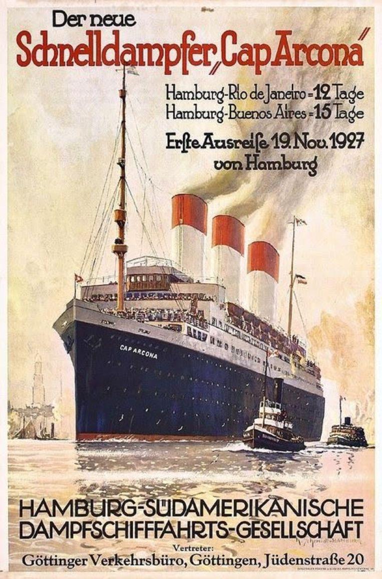 Poster van de Cap Arcona Beeld Trouw