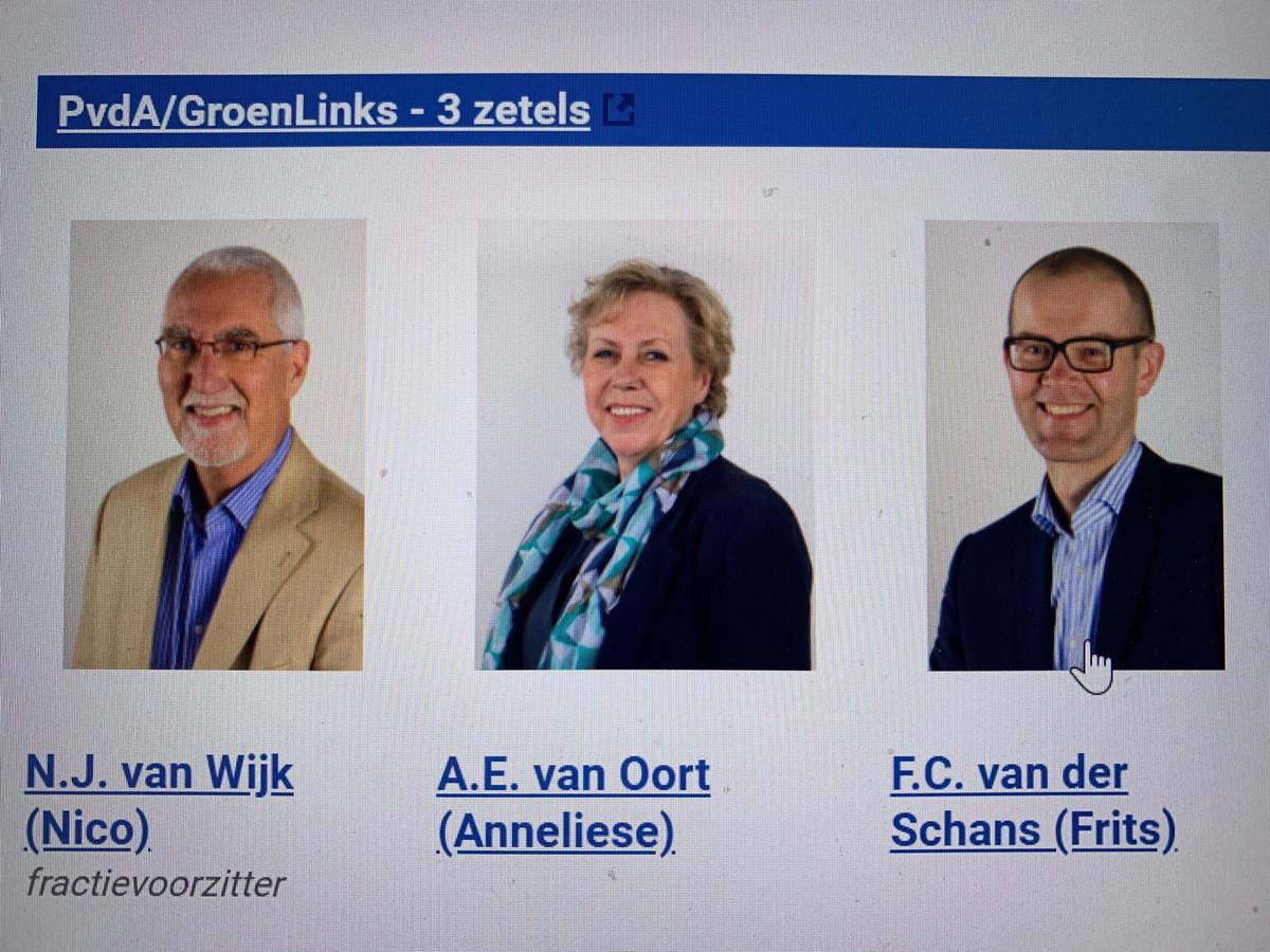 De fractie van PvdA/GroenLinks in Zaltbommel, toen alles nog koek en ei was.