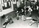 Kinderopvanglocatie 'Tuf Tuf' in de Weverstraat in Gorinchem, zoals het er in 1985 aan toe ging.