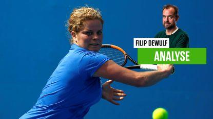 """Onze tennisexpert ziet dat tegenstand rekening moet houden met 'oude tante' Clijsters: """"Al was dit geen volwaardige wedstrijd"""""""